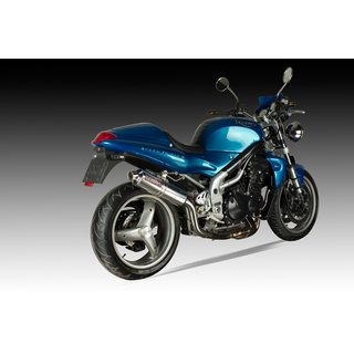 SPEEDPRO COBRA C5 Slip-on HIGH UP Road Legal/EEC/ABE homologated Triumph Speed Triple 955i